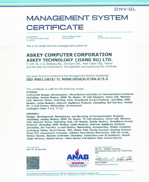 TL 9000/ISO 9001